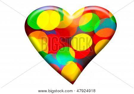 Bokeh Forming Heart Shape