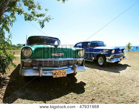 Two Classic Old Car