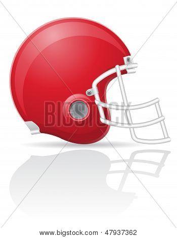 American Football Helment Vector Illustration