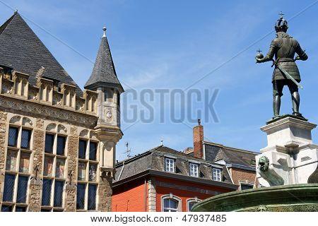 Aachen Market Square In Germany