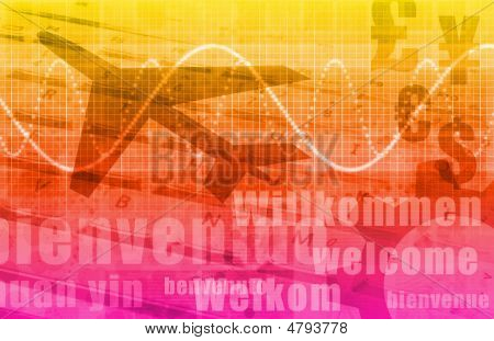 Travel Agency Abstract Background as a Art poster