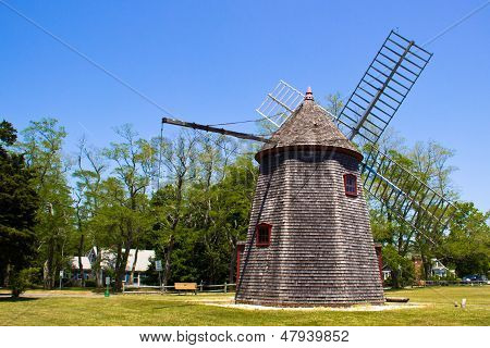 Historic Eastham Windmill In Cape Cod