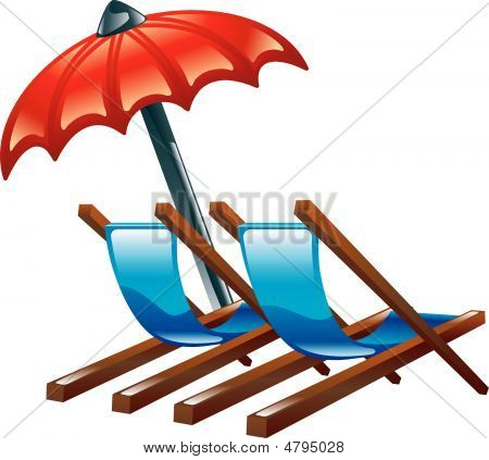 Beach chair images illustrations vectors beach chair stock deck or beach chairs and parasol voltagebd Gallery