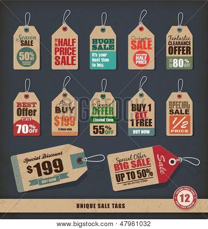 Tags de venda exclusivos