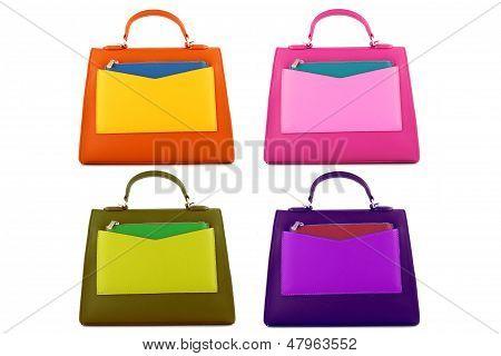 Multicolored female bags