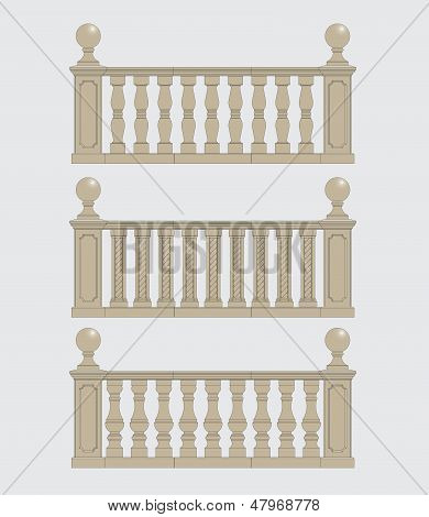 set of balustrade, vector