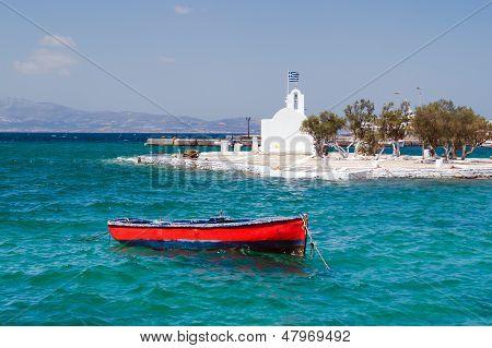 Traditional Fishing Boat On Naxos Island  Greece