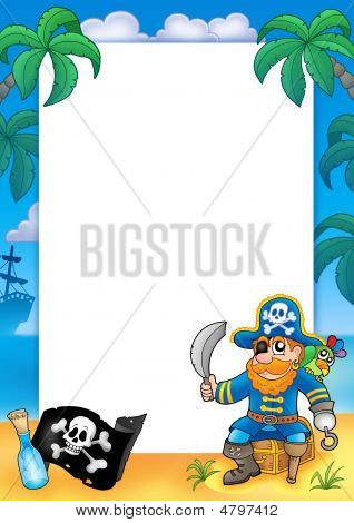 Frame With Pirate