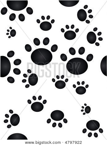 Pawprint Wallpaper Seamless