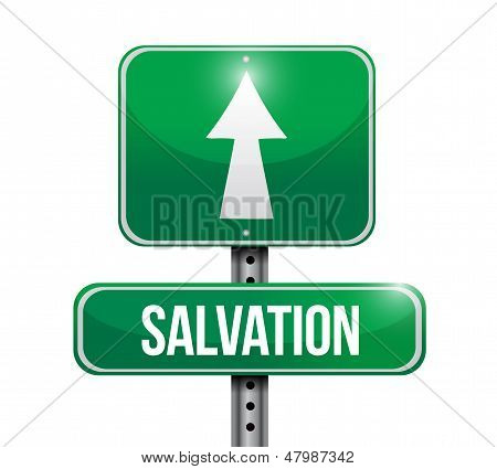Salvation Road Sign Illustration Design