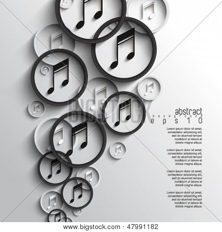 eps10 vector overlapping music note background