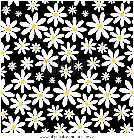 Seamless Cammomile Pattern