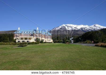 The Grand Chateau a luxury hotel in the Tongariro national park New Zealand poster