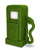 Green grass  fuel pump out, bio fuel gas station symbol poster