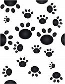 Paw prints going all over the place...Seamless wallpaper poster