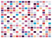 Vector retro pop art mosaic on white background poster