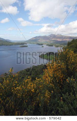 View Across Lake,Lake District,Uk