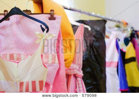 Designer Clothes Lined Up