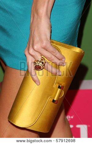 Stacy Keibler's purse  at the T-Mobile G1 Launch Party. Siren Studios, Hollywood, CA. 10-17-08