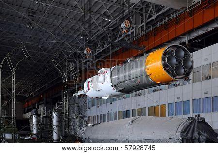 Soyuz Spacecraft In Integration Facility Building