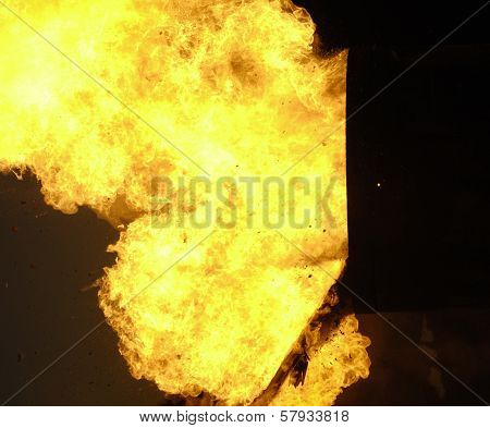 Flames Exploding From Barrel
