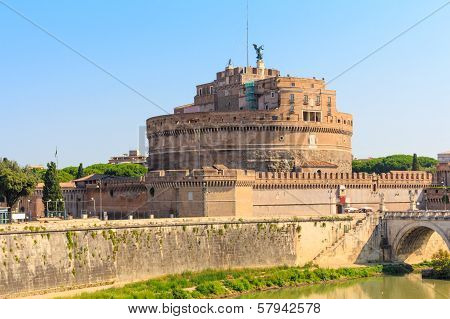 The Mausoleum Of Hadrian, Castel Sant Angelo, Rome, Italy