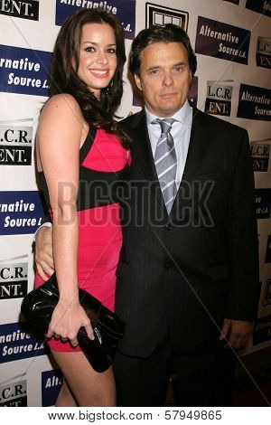 Maribel Montalvo and Damian Chapa  at the Los Angeles Premiere of 'Mexican Gangster'. Million Dollar Theater, Los Angeles, CA. 11-21-08