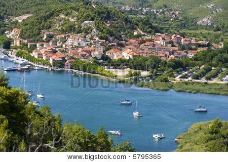 Skradin - Small City On Adriatic Coast In Croatia, At The Entrance In Krka National Park