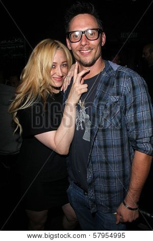 Jennifer Blanc, Denny Kirkwood at the wrap party for the upcoming