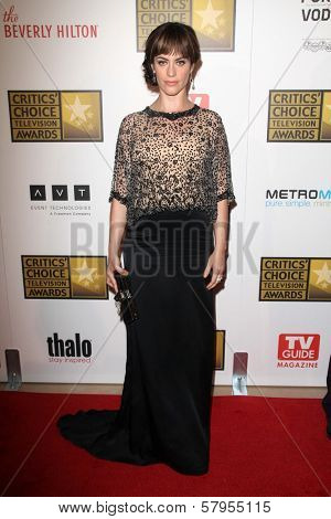 Maggie Siff at the Second Annual Critics' Choice Television Awards, Beverly Hilton, Beverly Hills, CA 06-18-12