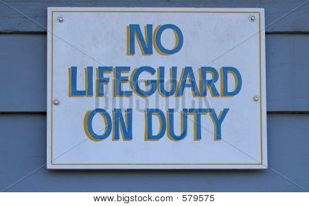 No Lifeguard