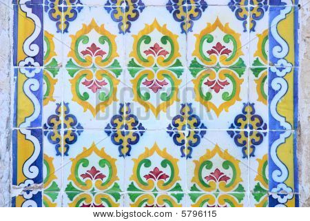 Traditional ancient ceramics .It is photographed in Portugal poster