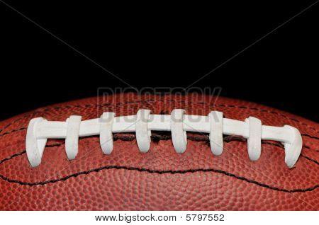 Football Closeup Isolated On Black