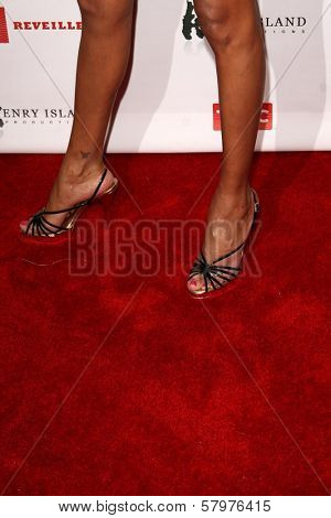 Keisha Whitaker's shoes  at a Private Premiere Party for TLC's 'Who Are You Wearing'. Stork, Hollywood, CA. 08-22-08