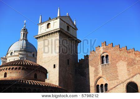 Historic buildings background, Mantua, Italy