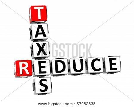 3D Reduce Taxes Crossword