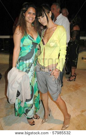 Leslie Sultani and Bai Ling  at the Opening of 'Third Eye Blonde'. Malibu Stage Company, Malibu, CA. 08-30-08