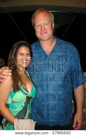 Leslie Sultani and Bill Fagerbakke  at the Opening of 'Third Eye Blonde'. Malibu Stage Company, Malibu, CA. 08-30-08