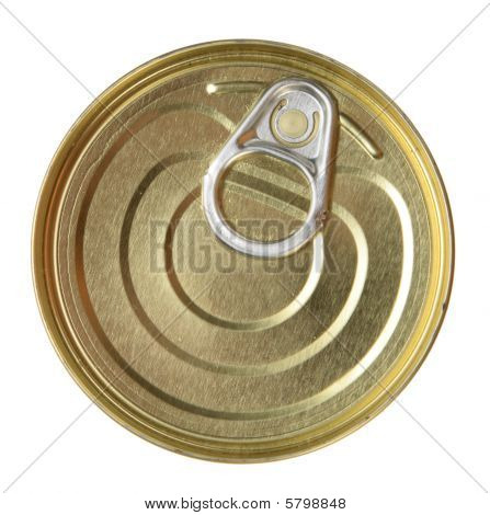 Single Metal Can. Top View.