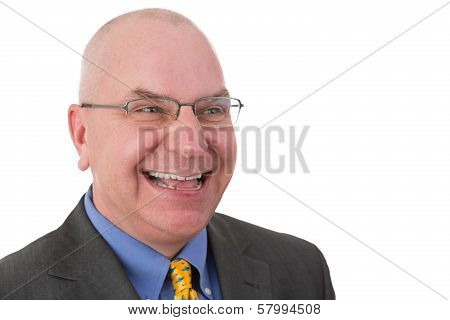 Happy Jovial Businessman