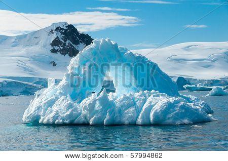 Arch Shaped Iceberg Antarctica