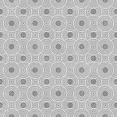 Gray and White Circles Tiles Pattern Repeat Background that is seamless and repeats poster