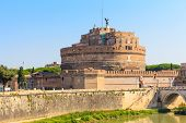 The Mausoleum of Hadrian Castel Sant Angelo Rome Italy poster