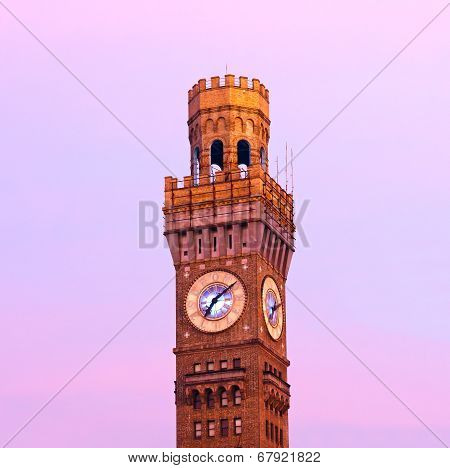 Emerson Bromo-Seltzer Tower in the early winter morning.