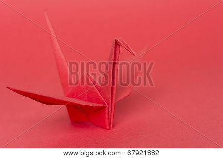 Red Paper Bird
