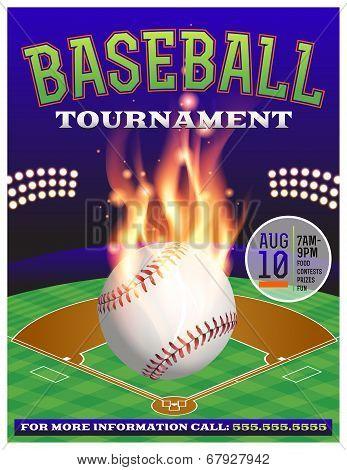 Baseball Tournament Illustration