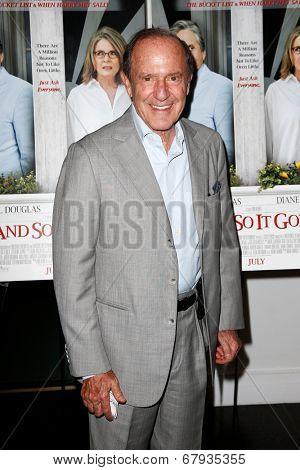EAST HAMPTON, NEW YORK-JULY 6: Media proprietor Mort Zuckerman attends the premiere of