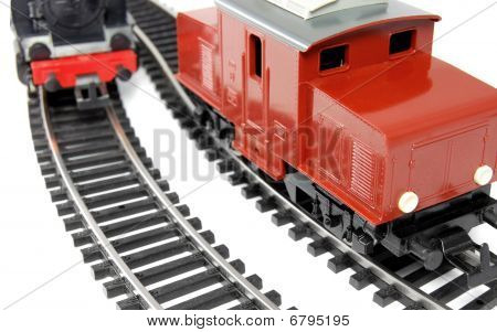 Toy Diesel Locomotive and Steam Train