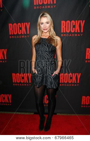 NEW YORK-MAR 13: Actress Katrina Bowden attends the 'Rocky' Broadway opening night after party at Roseland Ballroom on March 13, 2014 in New York City.