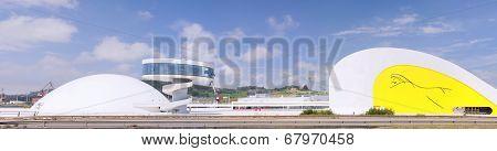 Niemeyer Center In Aviles, Spain.
